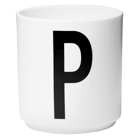 Design Letters Porcelain Cup - P