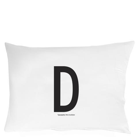 Design Letters Pillowcase - 70x50 cm - D
