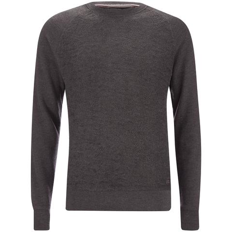 Produkt Men's Knit Raglan Crew Neck Sweatshirt - Dark Grey Melange
