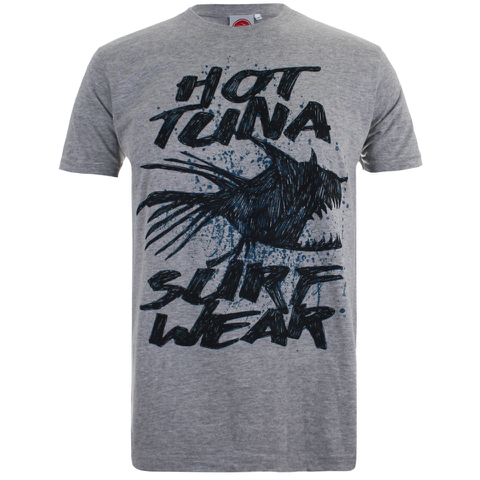 Hot Tuna Men's Palm Graphic T-Shirt - Grey Marl