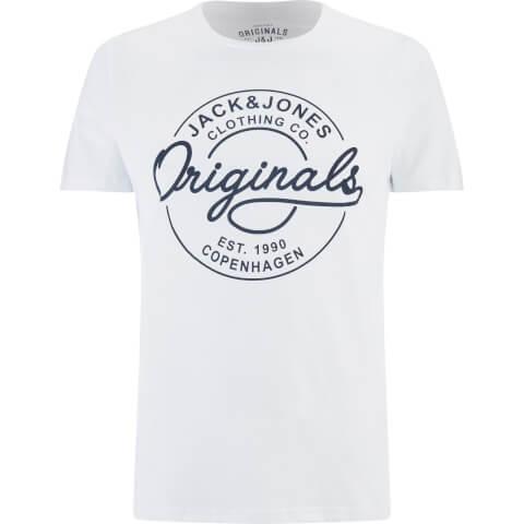 Jack & Jones Men's Originals Bone T-Shirt - White