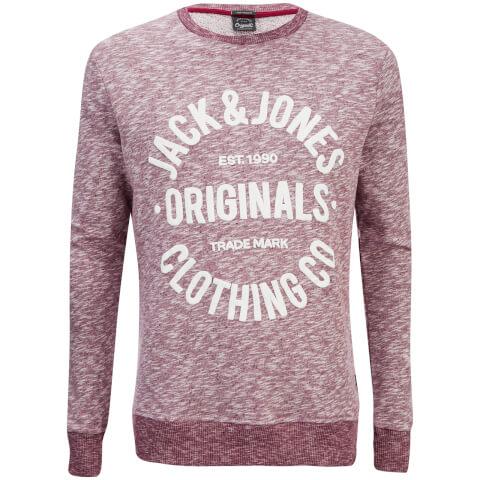 Jack & Jones Men's Originals Clemens Crew Neck Sweatshirt - Syrah Melange