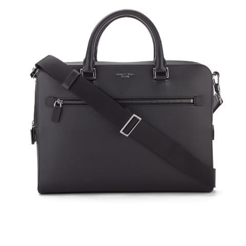 MICHAEL MICHAEL KORS Men's Harrison Medium Front Zip Briefcase - Black