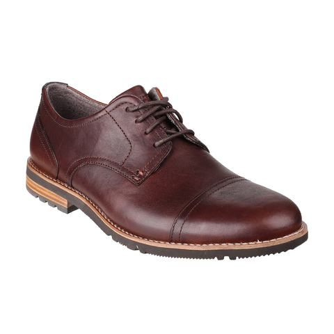 Rockport Men's Ledge Hill 2 Toe Cap Oxford Shoes - Dark Brown