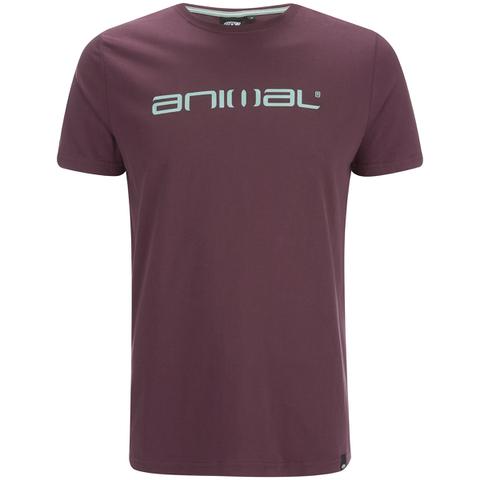 Animal Men's Classico Back Print T-Shirt - Mauve Purple
