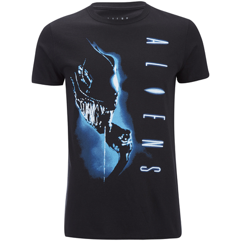 Aliens Men's Vertical T-Shirt - Black