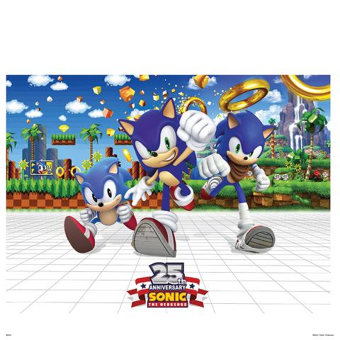 Sonic the Hedgehog 25th Anniversary Art Print - 14 x 11