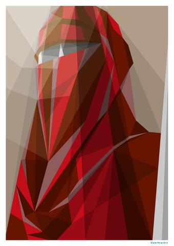 Star Wars Guard Imperial Guard Inspired Geometric Art Print - 16.5
