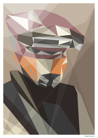 Star Wars Scum Bounty Hunter Inspired Geometric Art Print - 16.5