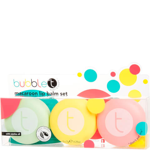 Bubble T Bath & Body - Macaroon Lip Balm Set 3 x 7g