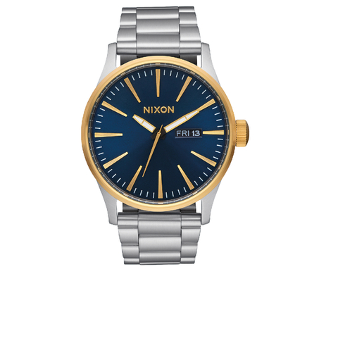 Nixon The Sentry SS Watch - Gold/Blue Sunray