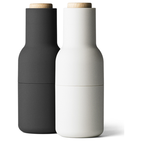 Menu Bottle Salt and Pepper Grinder - Ash/Carbon (Set of 2)