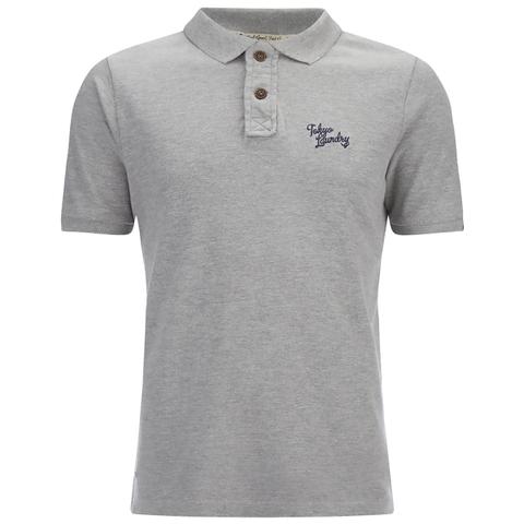 Tokyo Laundry Men's Willowood Polo Shirt - Light Grey Marl