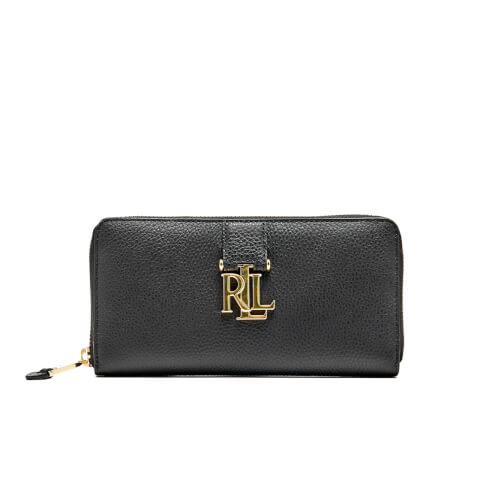 Lauren Ralph Lauren Women's Carrington Zip Wallet - Black