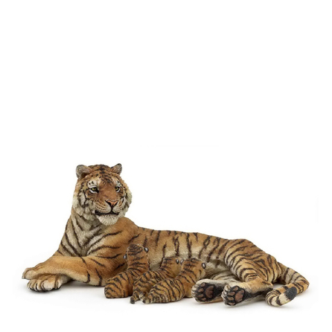 Papo Wild Animal Kingdom: Lying Tigress Nursing