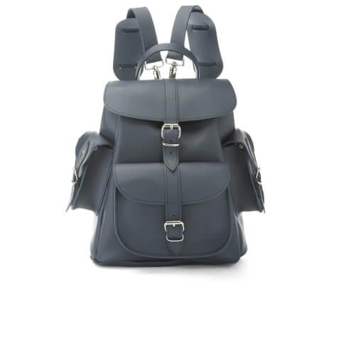 Grafea Women's Medium Leather Rucksack - Midnight Blue