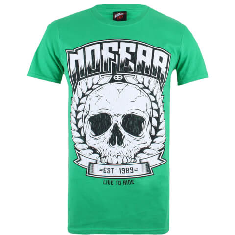 No Fear Men's Skull Wreath T-Shirt - Kelly Green