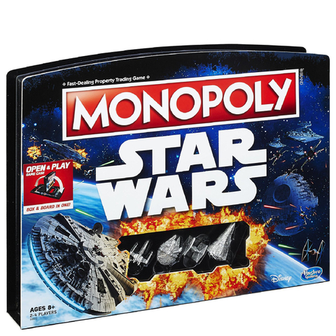 Star Wars Monopoly Open and Play Case