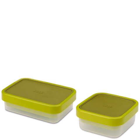 Joseph Joseph Go-Eat Space-Saving Food Storage Set Twin Pack