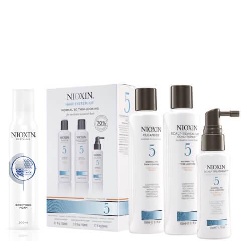 Nioxin Hair System Kit 5 and Bodifying Foam Bundle