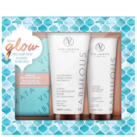 Vita Liberata Fabulous Glow Luxury Tan Box Kit - Dark Lotion