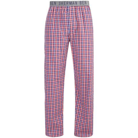 Ben Sherman Men's Check Tim Lounge Pants - Navy/Red/White