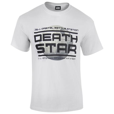 Star Wars: Rogue One Mens Death Star Logo T-Shirt - Wit