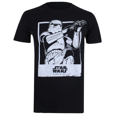 Star Wars: Rogue One Mens Trooper Polaroid T-Shirt - Zwart