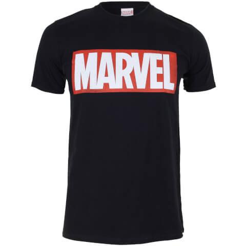 Marvel Boys' Core Logo T-Shirt - Black
