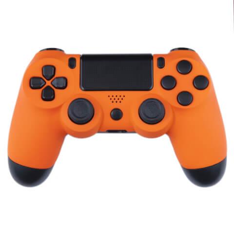 Playstation 4 Custom Controller - Orange Velvet & Black