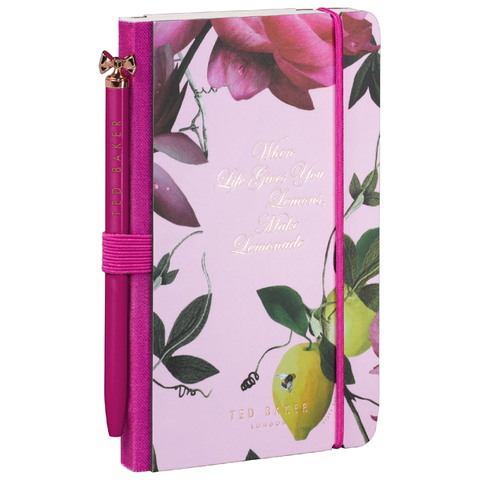Ted Baker Nude Mini Notebook and Pen - Citrus Bloom Range