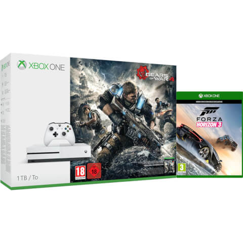 Xbox One S 1TB Console With Gears of War 4 & Forza Horizon 3