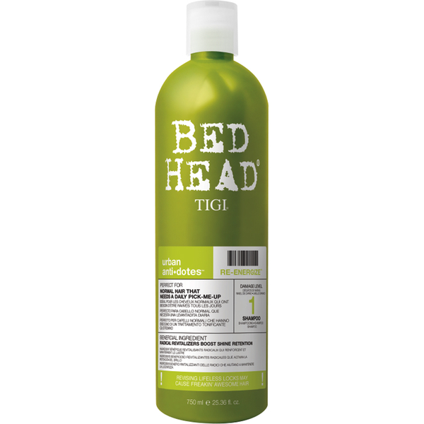 Champú revitalizanteTigi Bed Head Re-Energize Level 1 Urban Antidotes - 750ml