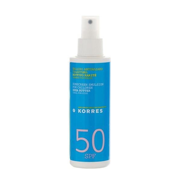Emulsion Solaire Pour Enfants Shea Butter Sunscreen SPF50 (150ml)Korres