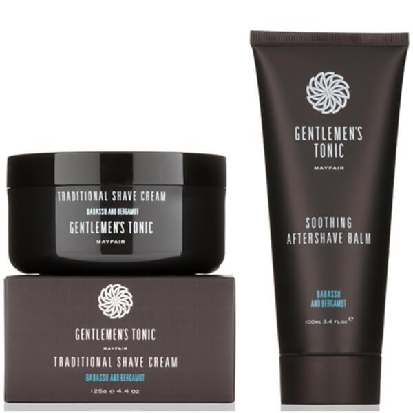 Gentlemen's TonicShavingDuo - Crema de afeitar clásicay calmante para después del afeitado
