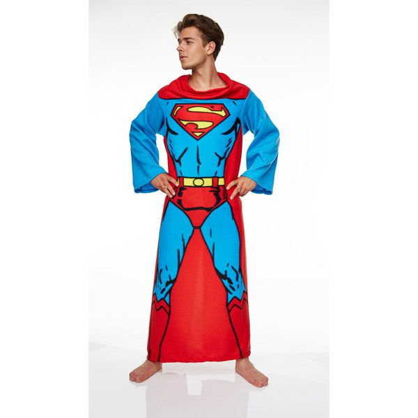 DC Comic Men's Superman Adult Lounger - Red