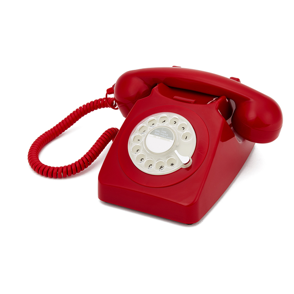 GPO Retro 746 Rotary Dial Telephone Red IWOOT