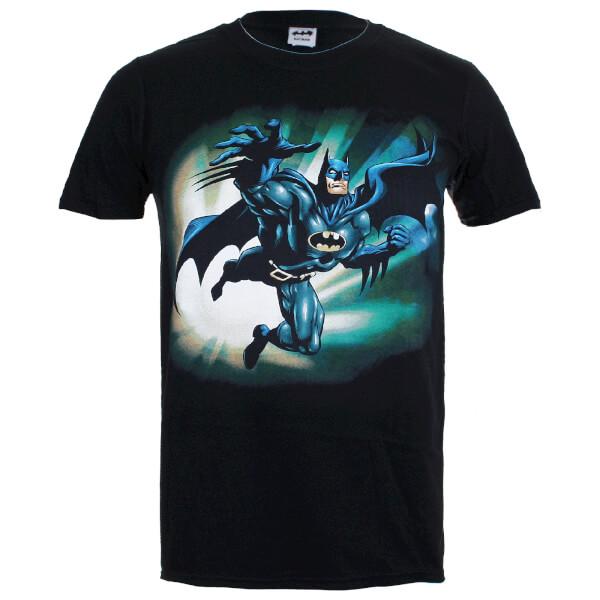 DC Comics Men's Batman Reaching Jump T-Shirt - Black