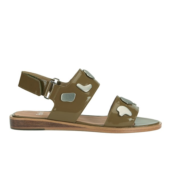Folk Women's Indra Two Part Patent Leather Sandals - Bronze