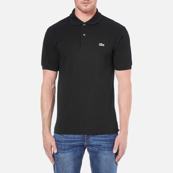 Lacoste Men's Basic Pique Short Sleeve Polo Shirt - Black