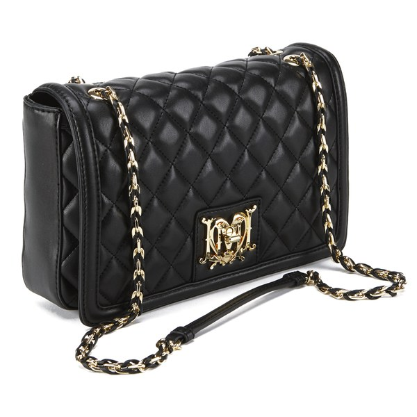Love Moschino Women S Quilted Cross Body Bag Black
