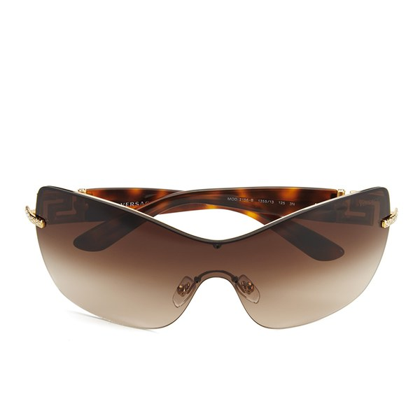 Oversized Gold Frame Sunglasses : Versace Oversized Womens Sunglasses - Gold