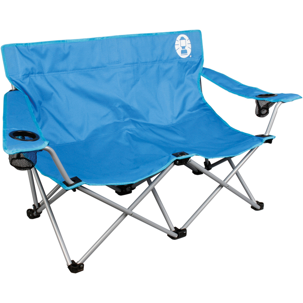 Coleman Folding Double Day Chair Blue Iwoot