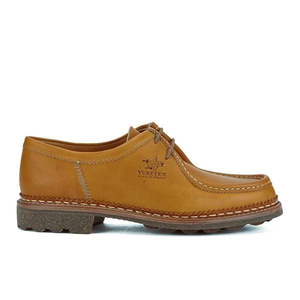 Yuketen x Heschung Men's Verbier Leather Shoes - Tan