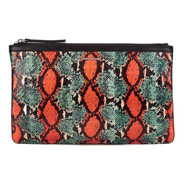 McQ Alexander McQueen Pchette 2v Clutch Bag - Elaphe Mix