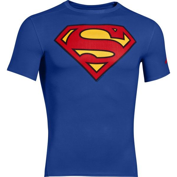 Under Armour Men 39 S Superman Compression Short Sleeved T