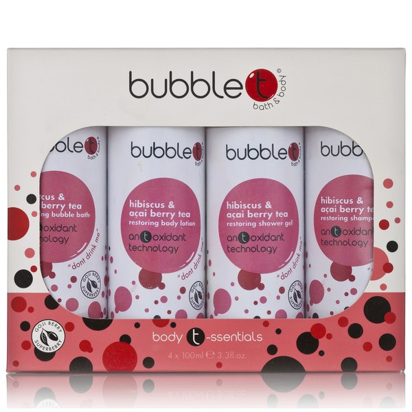 Bubble T Bath and Body Body T-ssentials in Hibiscus and Acai berry Tea (4x100ml)