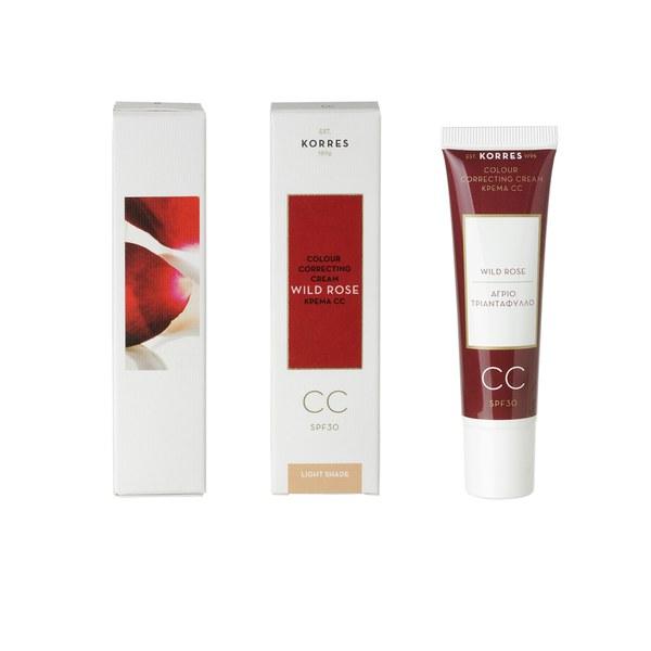 Korres Wild Rose CC Cream - Light SPF30 (30ml)
