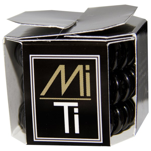 MiTi Professional Hair Tie - Midnight Black (3 St.)