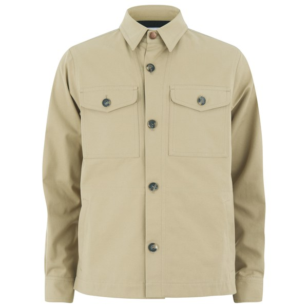 Private White VC Men's Piccadilly Cotton-Drill Shacket - Putty